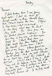 Предсмертное письмо Вирджинии Вулф мужу