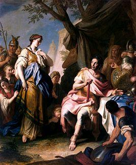 Александр Великий и Роксана. Картина итальянского художника Ротари (1756 г.) из Эрмитажа