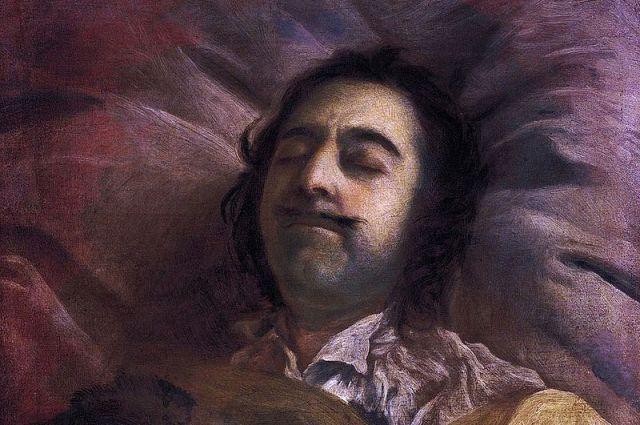 Фрагмент картины И.Н. Никитина «Пётр I на смертном одре».
