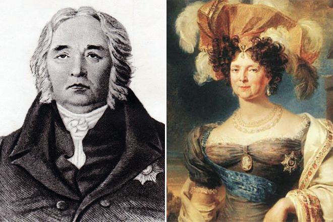 Иван Крылов и императрица Мария Федоровна